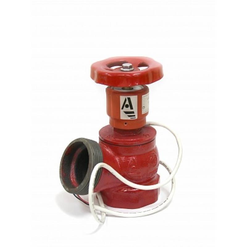 Клапан пожарный чугунный кпч угловой 125 (цапка-цапка) с датчик