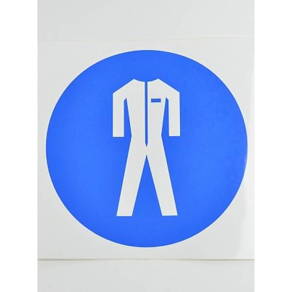 Знак Работать в защитной одежде
