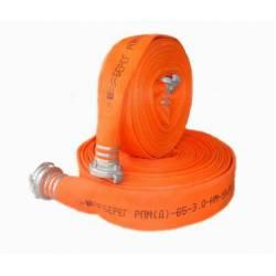 Рукава пожарные с внутренним гидроизоляционным и наружным защитным покрытием (с двухсторонним полимерным покрытием) 3,0 МПа
